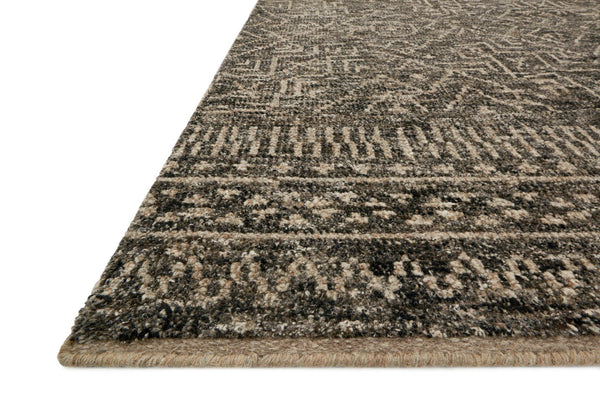 Charcoal & Taupe Wool Area Rug - Odyssey