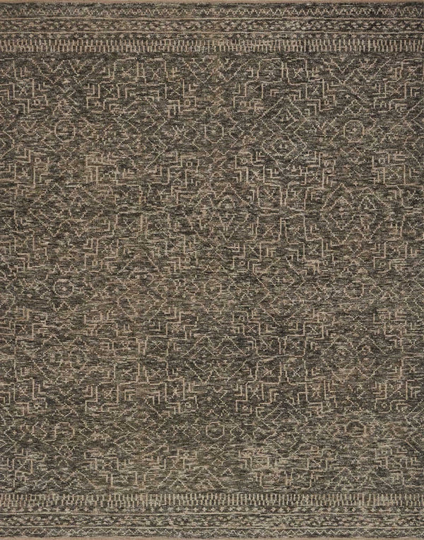 Charcoal & Taupe Wool Area Rug - Odyssey - Upper Earth