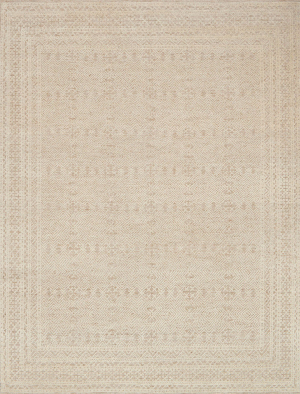 Oatmeal & Ivory Wool Area Rug - Origin - Upper Earth