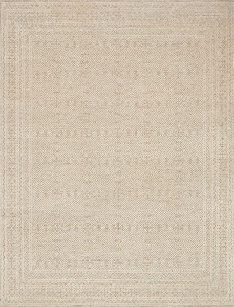 Oatmeal & Ivory Wool Area Rug - Origin