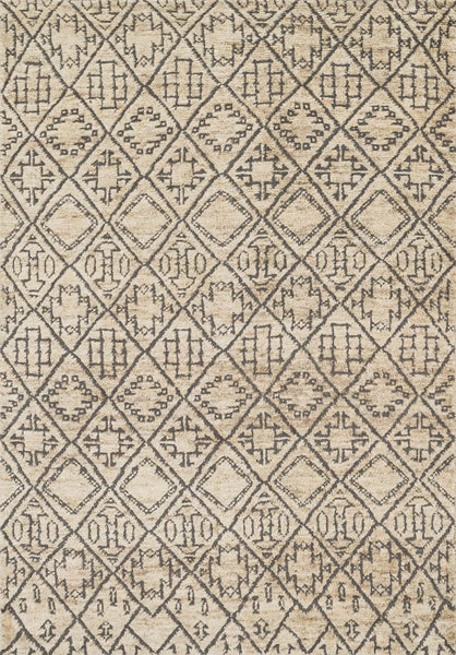 Sahara Handknotted Area Rug in Sand - Upper Earth