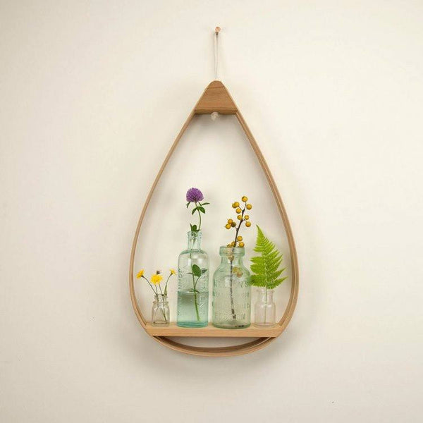 Small Eco-Friendly Wooden Shelf - 1 Shelf with Natural Finish - Upper Earth
