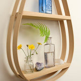 Small Eco-Friendly Wooden Shelf - 2 Shelves with Natural Finish - Upper Earth