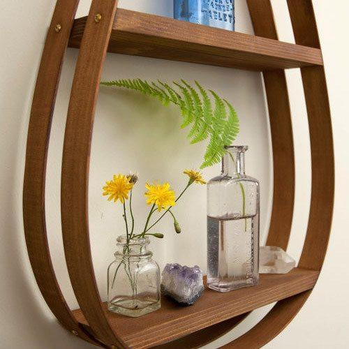 Small Eco-Friendly Wooden Shelf - 1 Shelf with Natural Finish
