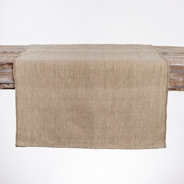 Cotton Burlap Table Runner Handmade in Ethiopia - Upper Earth