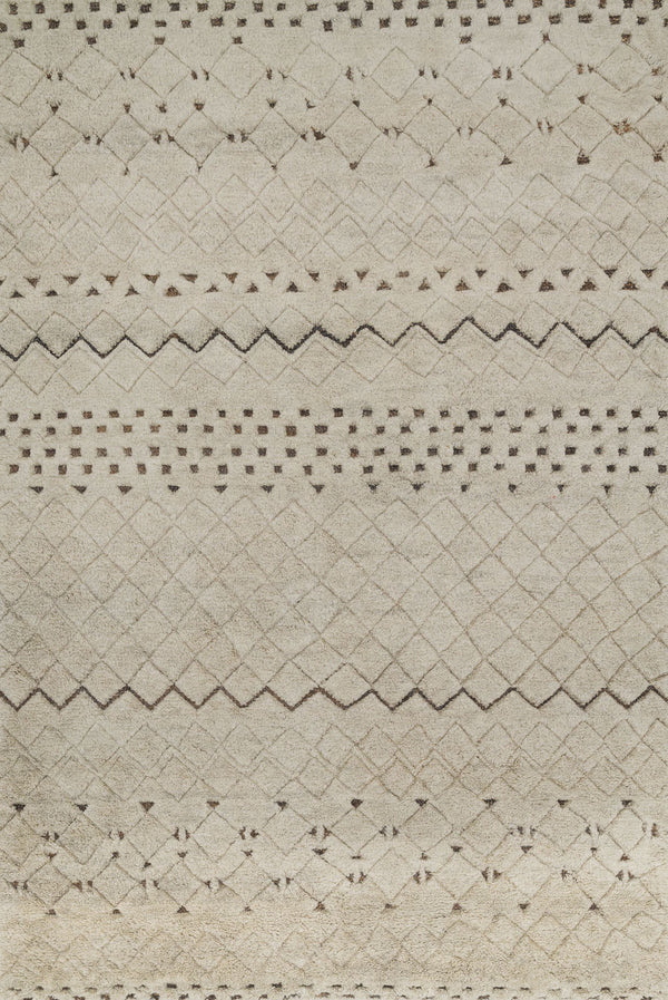 Tan Hand-Knotted Wool & Jute Area Rug - Tanzania - Upper Earth