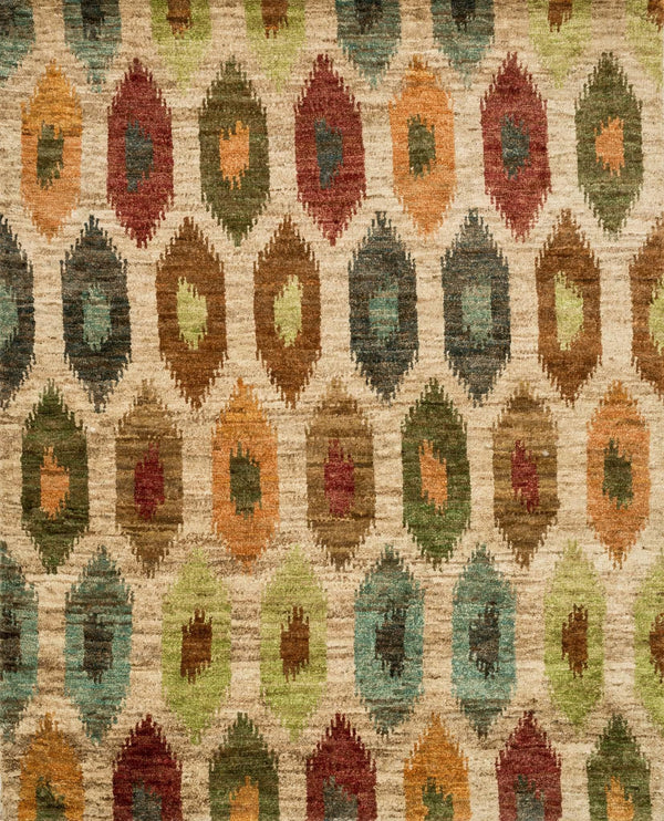 Multi Color Hand-Knotted Jute Area Rug - Xavier - Upper Earth