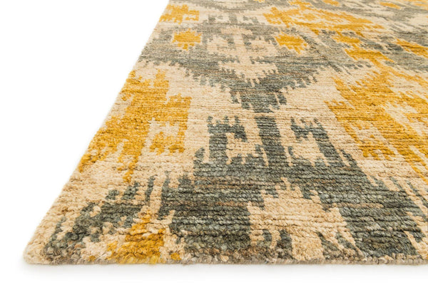 Xavier Hand-Knotted Area Rug in Grey Gold - Upper Earth