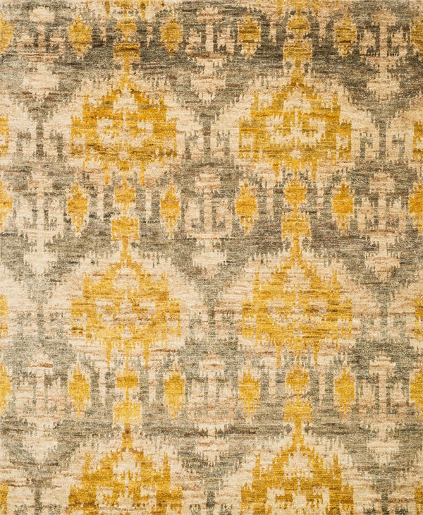 Grey & Gold Hand-Knotted Jute Area Rug - Xavier - Upper Earth