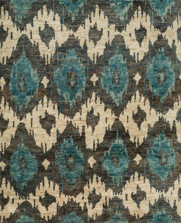Teal Hand-Knotted Jute Area Rug - Xavier - Upper Earth