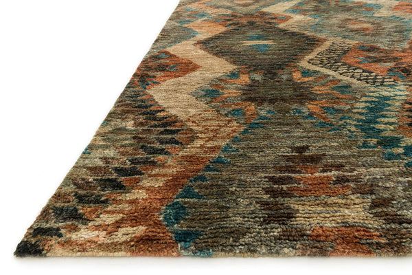 Xavier Hand-Knotted Area Rug in Tobacco Blue - Upper Earth