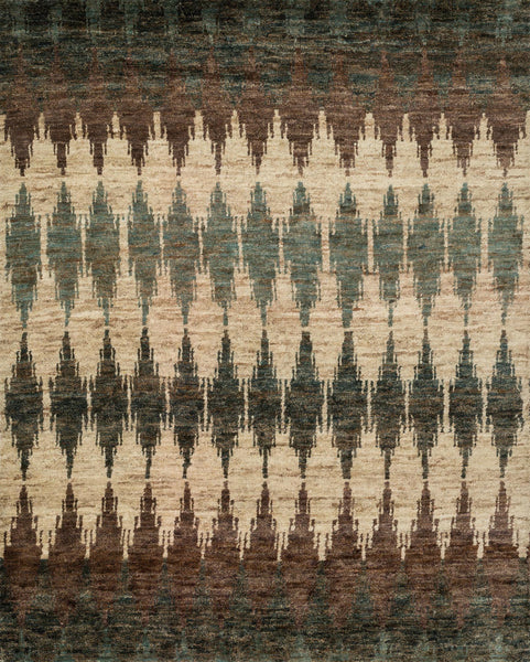 Xavier Hand-Knotted Area Rug in Pinebark - Upper Earth