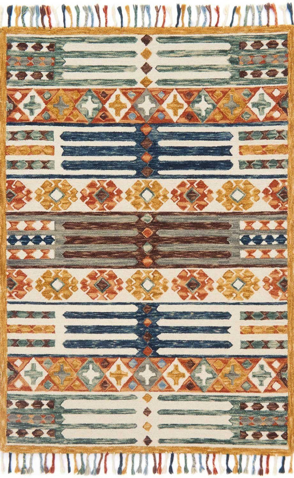 Multi Color Wool Area Rug - Zharah - Upper Earth
