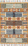Multi Color Wool Area Rug - Zharah