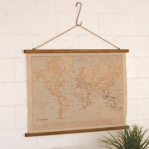 Canvas Printed World Map