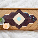 Wood Tray with Leather Handles - Upper Earth