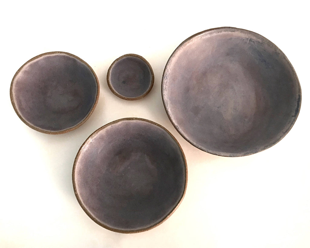Ceramic Bowl Set in Purple Matte - Upper Earth