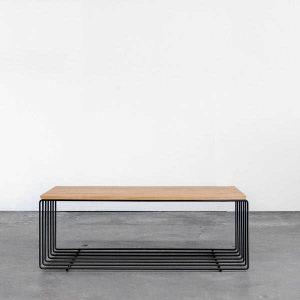 Modern Oak Coffee Table - Upper Earth