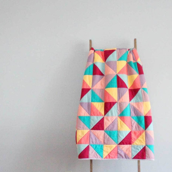 Half Triangles Quilt Blanket