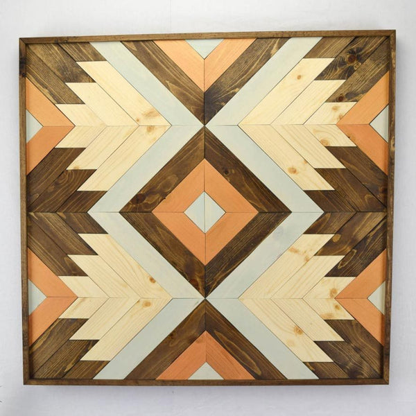 Boho Abstract Wood Wall Art - Upper Earth
