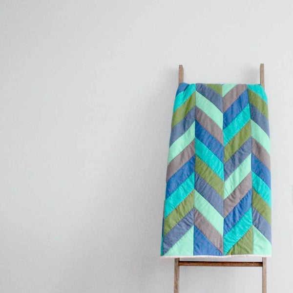 Herringbone Quilt Blanket - Upper Earth