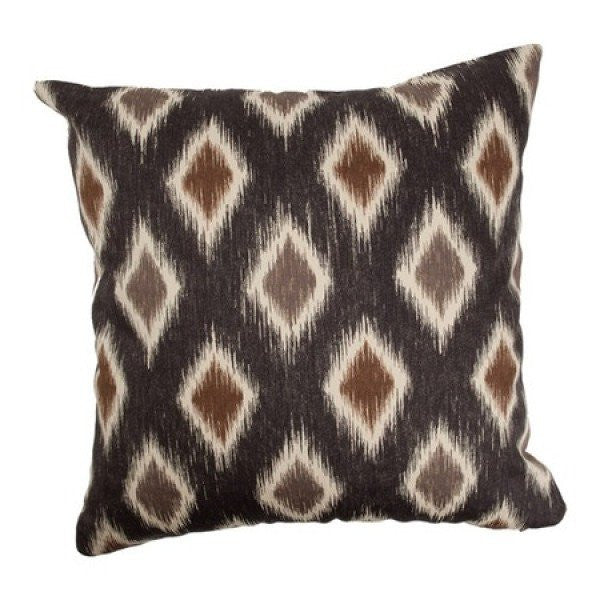 Faela Geometric Pillow Black/Brown - Upper Earth