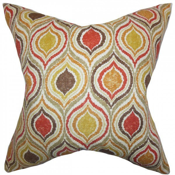 Xylon Geometric Pillow Orange - Upper Earth