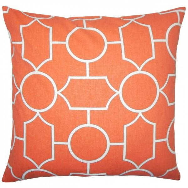 Samoset Geometric Pillow Papaya