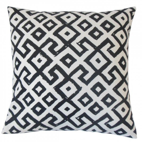 Rizwan Geometric Pillow Black White - Upper Earth