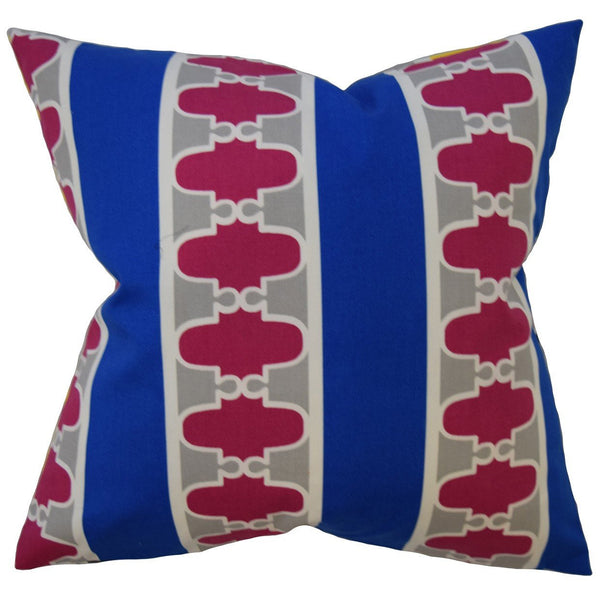 Galilhai Geometric Pillow Blue - Upper Earth