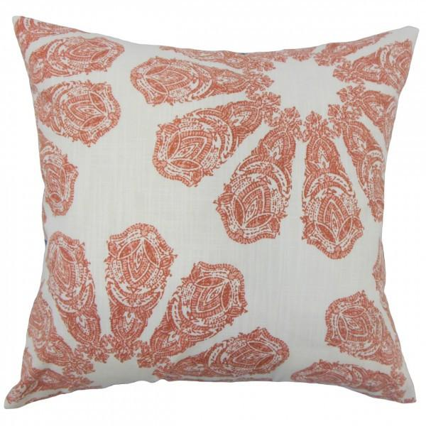 Ceilidh Ikat Pillow Coral - Upper Earth