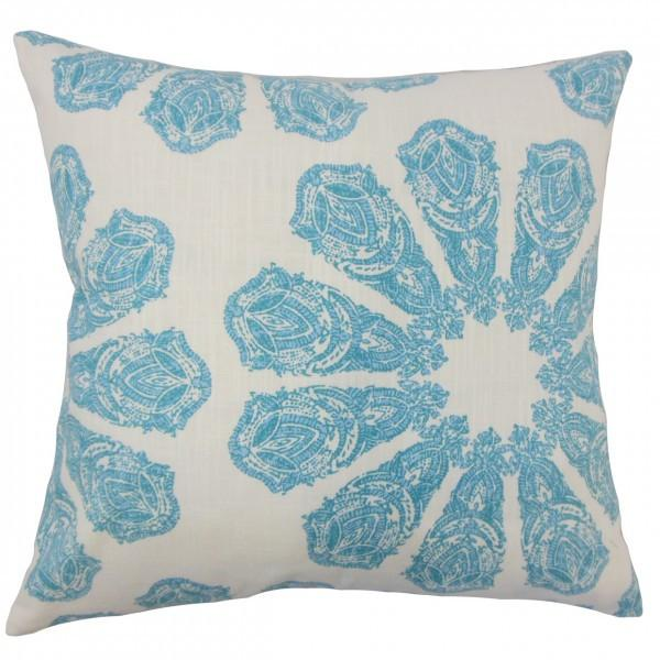 Ceilidh Ikat Pillow Turquoise