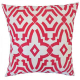 Zephne Geometric Pillow Pink