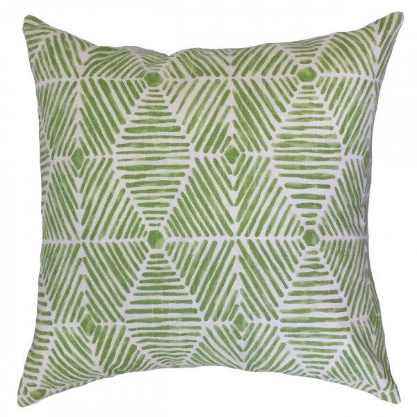 Iakovos Geometric Pillow Kiwi - Upper Earth