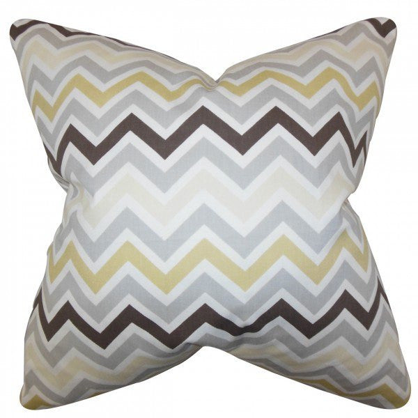 Howel Zigzag Pillow Gray - Upper Earth