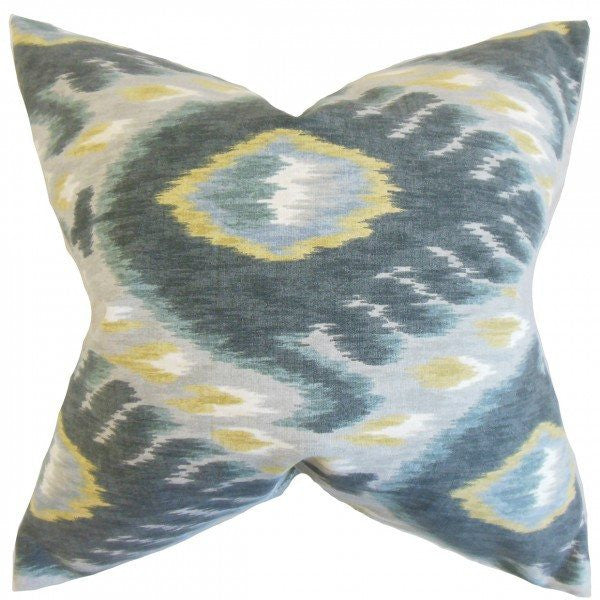 Barnum Ikat Pillow Mineral - Upper Earth