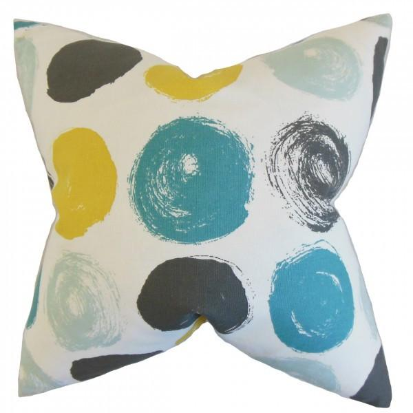 Xenophon Geometric Pillow Blue Dot - Upper Earth