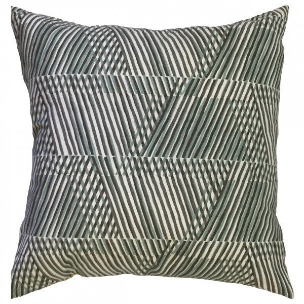 Qays Geometric Pillow Dew - Upper Earth