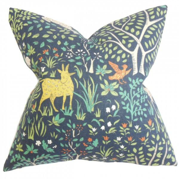 Elihu Floral Pillow Blue - Upper Earth