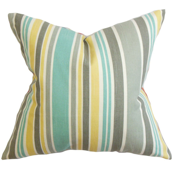 Manila Stripe Pillow Gray - Upper Earth