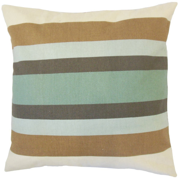 Gainell Stripes Pillow Truffle - Upper Earth