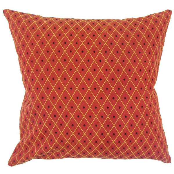 Mavis Geometric Pillow Orange - Upper Earth