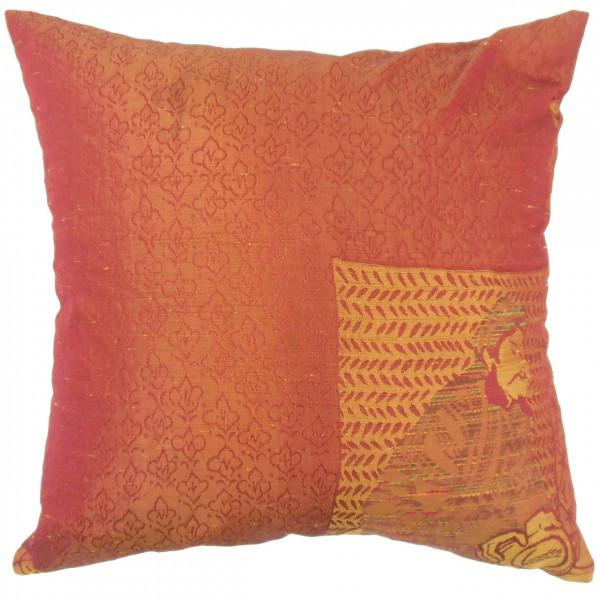 Uri Graphic Pillow Orange