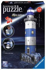 Ravensburger 216pc 3D Lighthouse at Night Puzzle