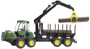 Bruder 1/16 John Deere 1210E Forwarder with grab and 4 trunks
