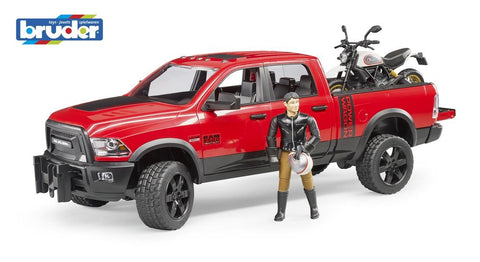 Bruder 1:16 RAM 2500 Power Wagon with Ducati