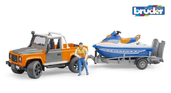 Bruder 1:16 Land Rover Defender with Jetski