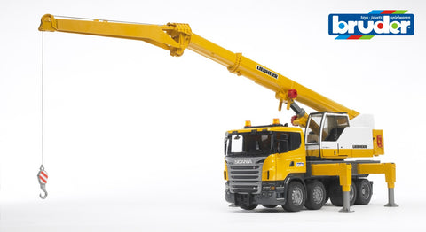 Bruder 1/16 Scania R-Series Liebherr Crane Truck and Light & Sound Module Brisbane CBD - City Hobbies and Toys