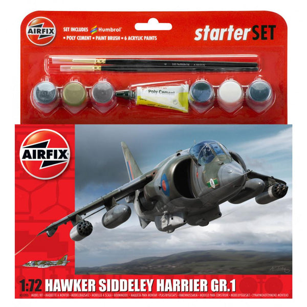 AIRFIX HAWKER HARRIER GR1 Starter Set