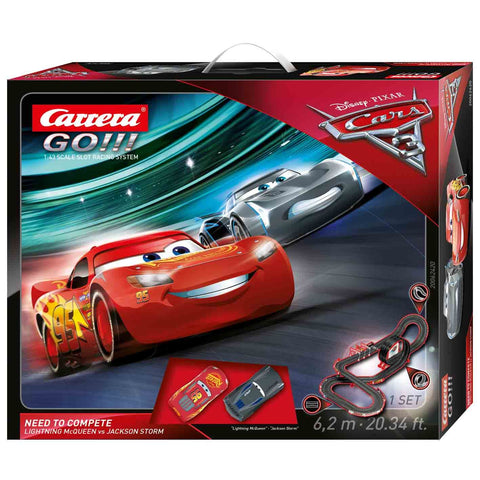 Carrera GO! Disney Cars 3 - Need to Complete Slot Car Set